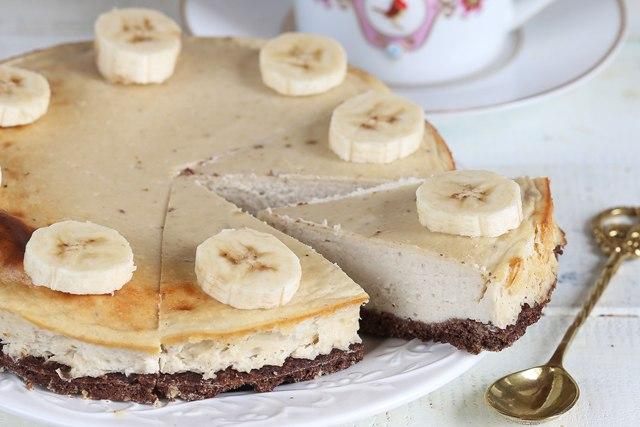 Дуже смачний і незвичний дієтичний банановий чізкейк