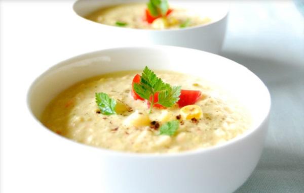 Кабачково-яблучний крем-суп з перловою крупою
