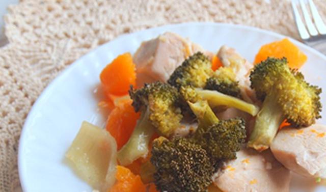 Куряче філе з овочами за Дюканом
