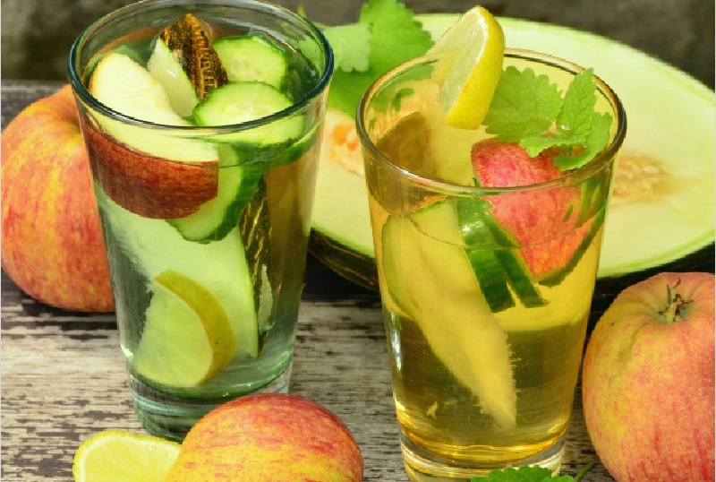 Безалкогольний мохіто з огірком
