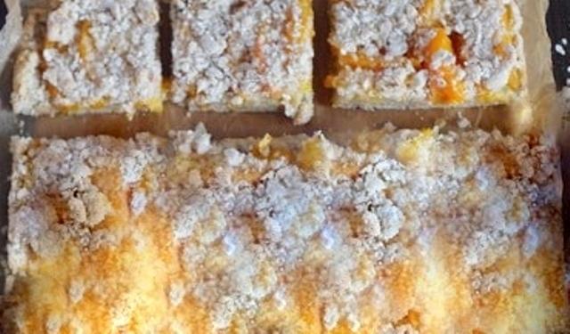 Вівсяний пиріг з абрикосами